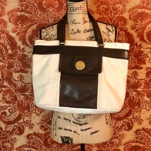 Kate Spade Chocolate Brown & Cream Leather tote